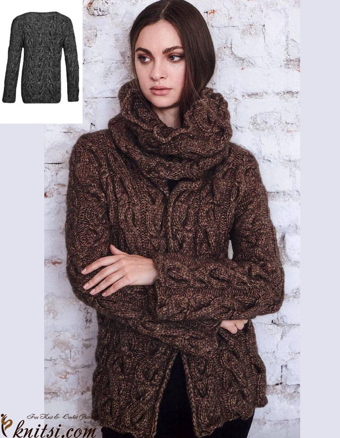 Jacket & cowl knitting patterns free