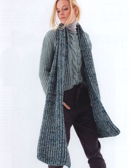 Free knitting patterns pullover & scarf