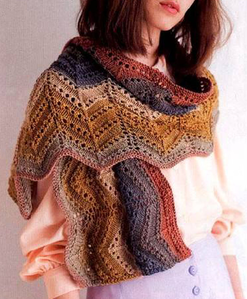 Lace Zig Zag Scarf Free Knitting Diagram