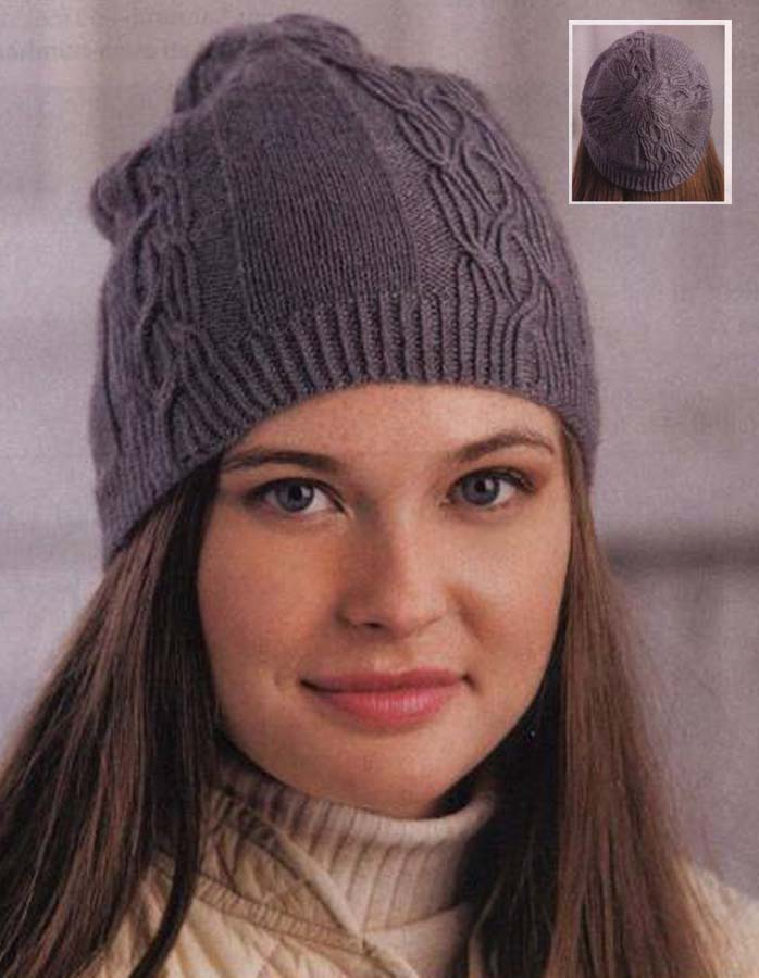 Ladies Cable Hat Knitting Pattern Free