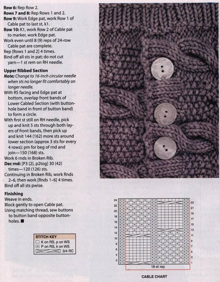Buttoned cowl knitting pattern free