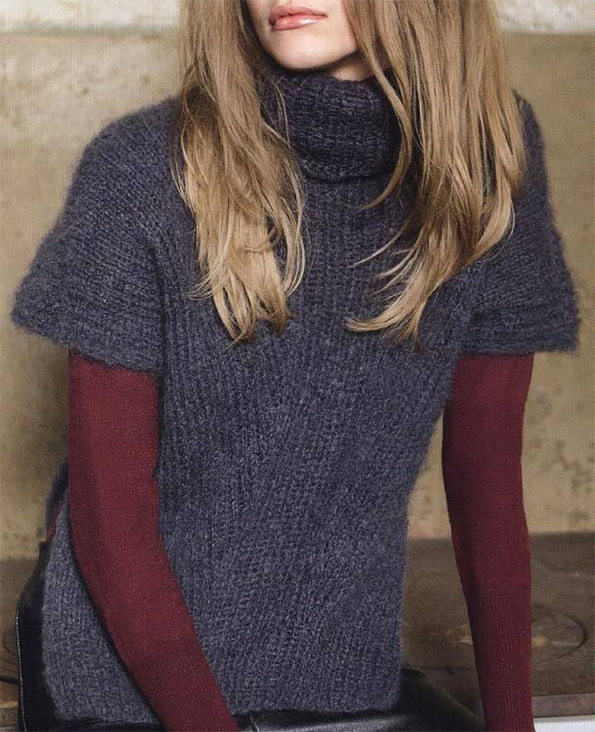 Mohair Pullover Knitting Pattern Free