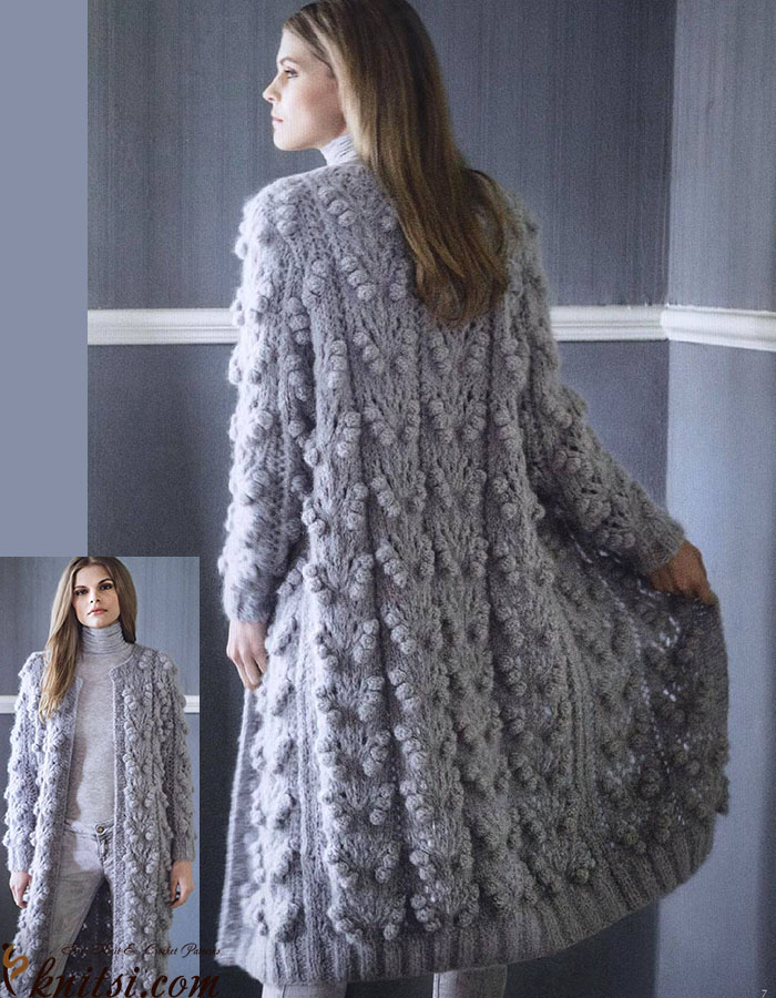 Long coat knitting pattern free