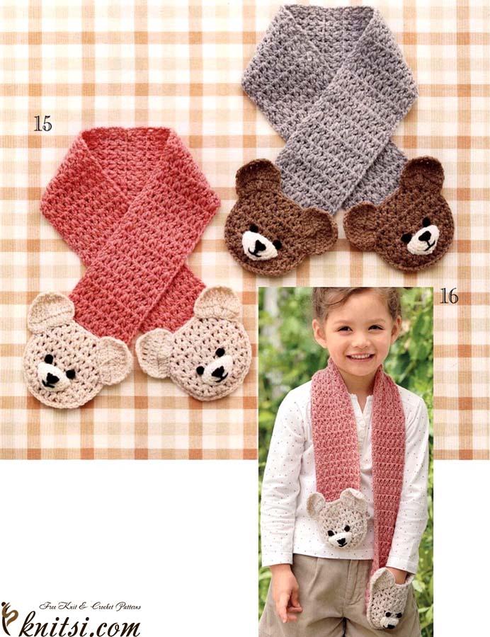Bears Pocket Scarf Free Crochet Diagram
