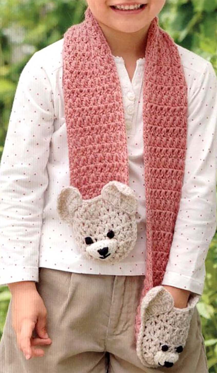 Bears Pocket Scarf Free Crochet Diagram