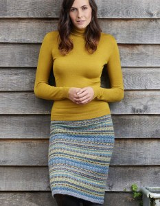 Skirt knitting pattern