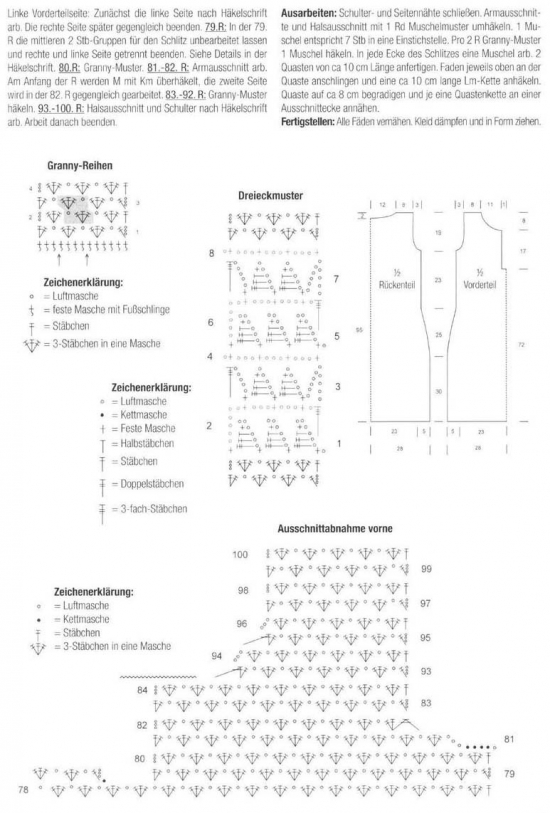 Crochet pattern and chart