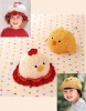 Chicken hat crochet pattern free